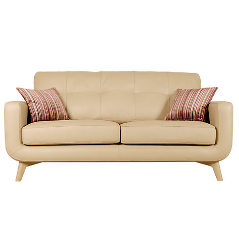 Buy John Lewis Barbican Medium Leather Sofa, Prescott Buckskin Online at johnlewis.com