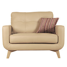 Buy John Lewis Barbican Leather Snuggler with Light Legs Online at johnlewis.com