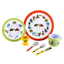 Buy Martin Gulliver Jungle Friends Melamine Dinner Set Online at johnlewis.com