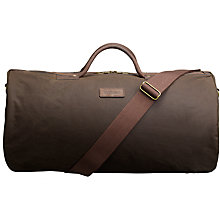 Buy Barbour Wax Cotton Holdall, Olive Online at johnlewis.com