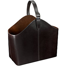 Buy Faux Leather Magazine Holder, Brown Online at johnlewis.com