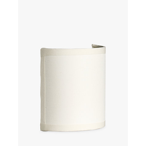 Buy John Lewis Lulu Half Drum Shade, Cream Online at johnlewis.com