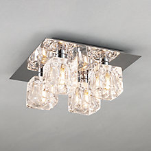 Buy John Lewis Cuboid 4 Light Bathroom Ceiling Plate Online at johnlewis.com