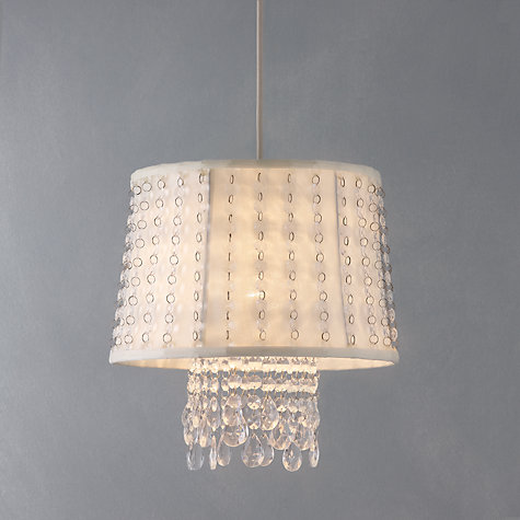 Buy John Lewis Easy-to-fit Angeline Ceiling Shade, Ivory Online at johnlewis.com