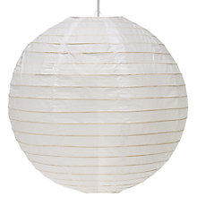 Buy John Lewis The Basics Easy-to-fit Paper Lantern Shade, Round Online at johnlewis.com