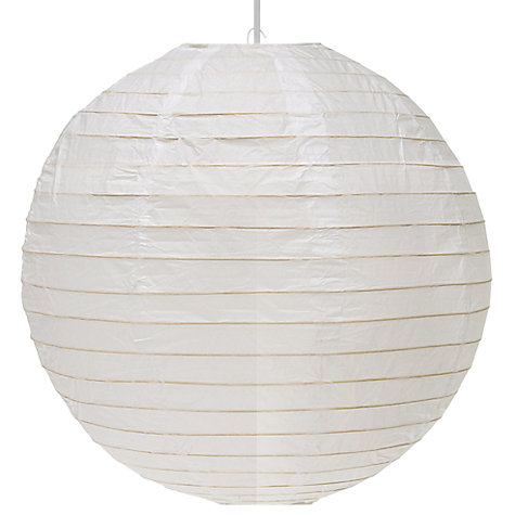 Buy John Lewis Value Easy-to-fit Paper Lantern Shade, Round Online at johnlewis.com