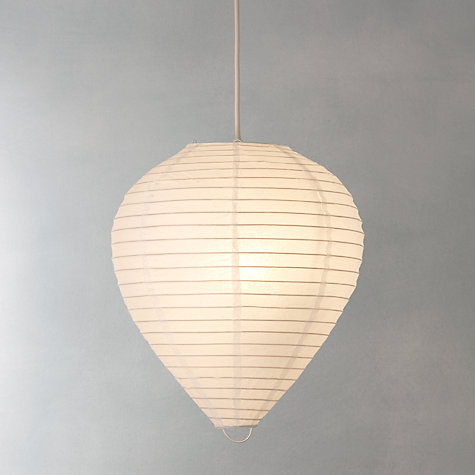 Buy John Lewis Value Easy-to-fit Paper Lantern Shade, Egg-Shaped Online at johnlewis.com