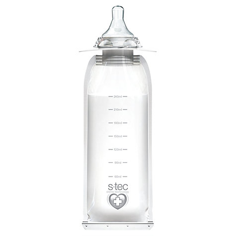 Buy Vital Baby Medium Flow Disposable Bottles, Pack of 4, 240ml Online at johnlewis.com
