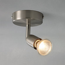 Buy John Lewis The Basics Keeley Single LED Spotlight, Satin Nickel Online at johnlewis.com
