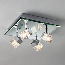 Buy John Lewis Cornell 4 Light Bathroom Ceiling Plate Online at johnlewis.com