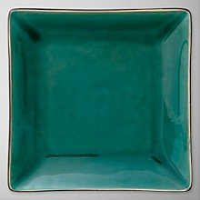 Buy John Lewis Oriental Teal Square Plate, 19cm Online at johnlewis.com