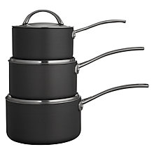 Buy John Lewis Hard Anodised Aluminium Nonstick 3 Piece Saucepan Set Online at johnlewis.com