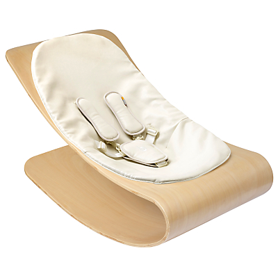 bloom Coco Stylewood Baby Lounger, Natural with Coconut White