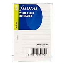 Buy White Ruled Filofax Paper Online at johnlewis.com