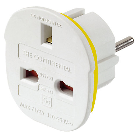 Buy Go Travel UK to EU Adaptor Online at johnlewis.com