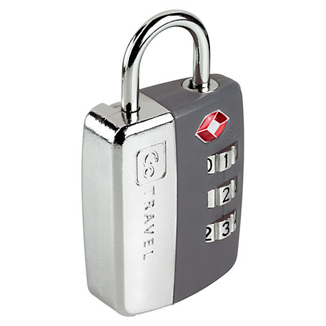 Buy Design Go TSA Approved Combination Padlock, Assorted Colours Online at johnlewis.com