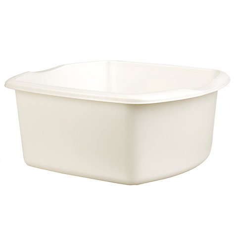 Buy John Lewis The Basics Plastic Rectangle Washing-Up Bowl, Opal Online at johnlewis.com