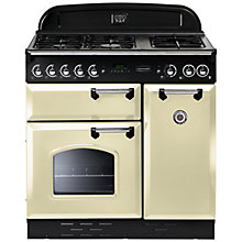 Buy Rangemaster Classic 90 Dual Fuel Range Cooker, Cream/Chrome Trim and LEIHDC90CR/C Chimney Cooker Hood, Cream Online at johnlewis.com