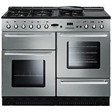 Buy Rangemaster Toledo 110 Dual Fuel Range Cooker, Stainless Steel and Cooker Hood, Stainless Steel/Glass Online at johnlewis.com