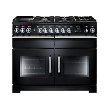 Buy Rangemaster Excel 110 Dual Fuel Range Cooker, Black/Chrome Trim Online at johnlewis.com