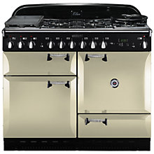 Buy Rangemaster Elan 110 Dual Fuel Cooker and  LEIHDC110CR/C Chimney Cooker Hood, Cream Online at johnlewis.com