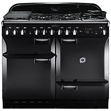 Buy Rangemaster Elan 110 Dual Fuel Cooker, Black Online at johnlewis.com