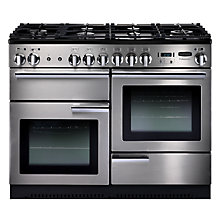 Buy Rangemaster Professional+ 110 Dual Fuel Range Cooker and LEIHDC110SC Chimney Cooker Hood, Stainless Steel Online at johnlewis.com