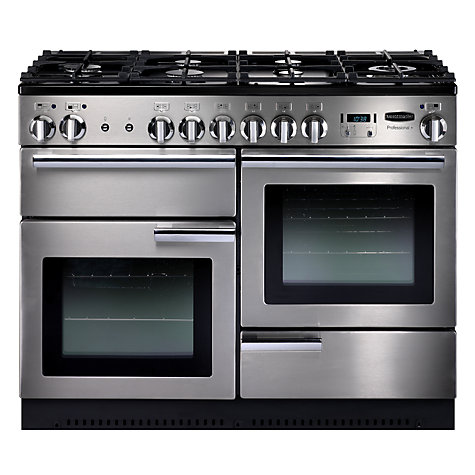 Buy Rangemaster Professional+ 110 Dual Fuel Range Cooker, Stainless Steel Online at johnlewis.com