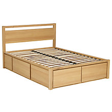 Buy John Lewis Sullivan Oak Storage Bed & Headboard, Double Online at johnlewis.com