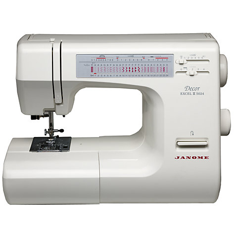 Buy Janome Excel Decor 5024 Sewing Machine Online at johnlewis.com