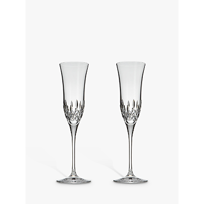 Waterford Crystal Lismore Essence Champagne Flutes, Set of 2
