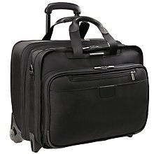 "Buy Briggs & Riley 17"" Executive Expandable Rolling Briefcase, Black Online at johnlewis.com"