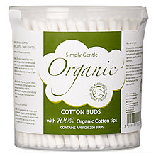 Buy Simply Gentle Organic Cotton Wool Buds, Pack of 200 Online at johnlewis.com