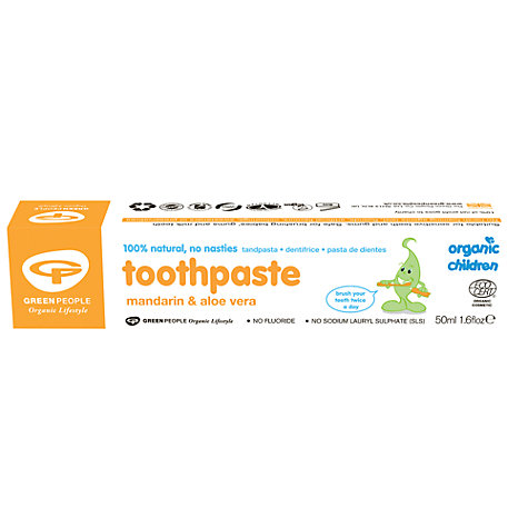 Buy Organic Children Mandarin Toothpaste, 50ml Online at johnlewis.com