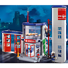 Buy Playmobil Fire Station Online at johnlewis.com