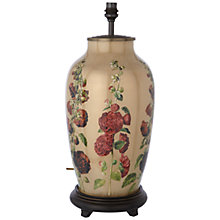 Buy Jenny Worrall Walther Hollyhock Glass Lamp Base, Beige Online at johnlewis.com