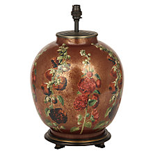 Buy Jenny Worrell Walther Hollyhock Glass Lamp Base, Red Online at johnlewis.com