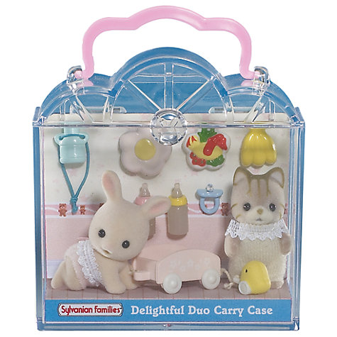 Buy Sylvanian Families Delightful Duo Carry Cases, Assorted Online at johnlewis.com
