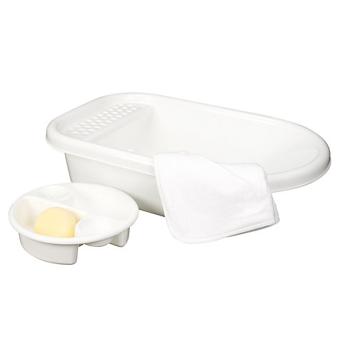Buy John Lewis The Basics Baby Bath Set, White Online at johnlewis.com