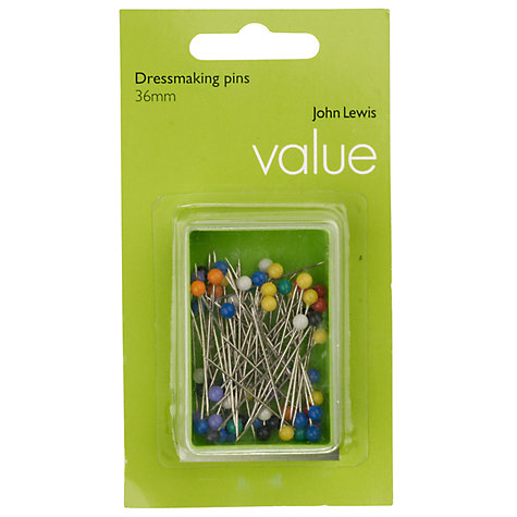 Buy John Lewis The Basics Plastic Headed Dressmaking Pins, Set of 60 Online at johnlewis.com