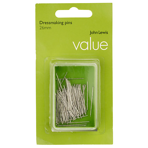 Buy John Lewis The Basics Dressmaker's Pins, Set of 100 Online at johnlewis.com