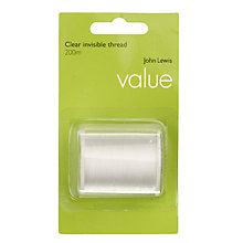 Buy John Lewis The Basics Invisible Thread, 200m Online at johnlewis.com