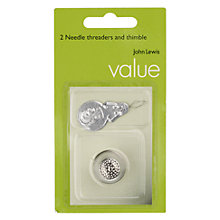 Buy John Lewis Value Needle Threaders and Thimble Online at johnlewis.com