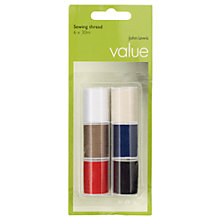 Buy John Lewis The Basics Sewing Threads, Assorted Colours, Pack of 6 Online at johnlewis.com