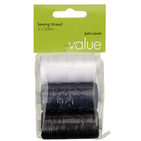 Buy John Lewis Value Sewing Threads, Assorted Colours, Pack of 3 Online at johnlewis.com