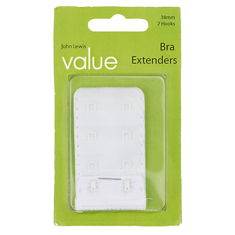 Buy John Lewis The Basics Bra Extender, White Online at johnlewis.com