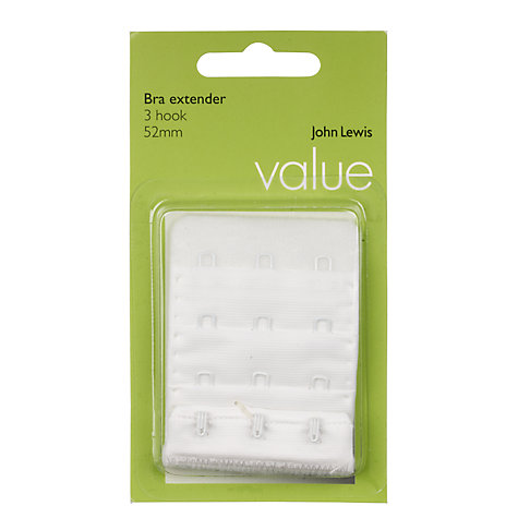 Buy John Lewis Value Bra Extender, White Online at johnlewis.com