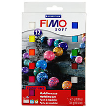 Buy FIMO Soft Modelling Clay Material Pack, 10 Coloured Half Blocks Online at johnlewis.com