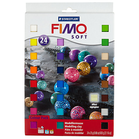 Buy Fimo Soft Moulding Kit, 24 Assortment of Colours Online at johnlewis.com