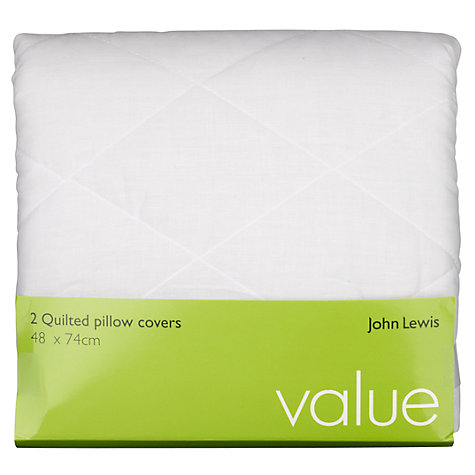 Buy John Lewis Value Polycotton Quilted Standard Pillow Protectors, Pack of 2 Online at johnlewis.com